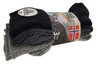 3er Pack Norweger Grobstrick Socken Grau mit 30%...