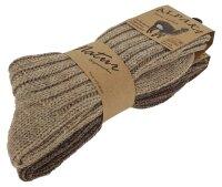 """2er Pack Alpaka Socken """"Duo"""" Unisex 39-42 Beige/Braun"""