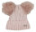 """Damen Winter Mütze """"Livia"""" Strickmütze im Streifendesign mit 2 PomPoms und Glitzereffekten"""
