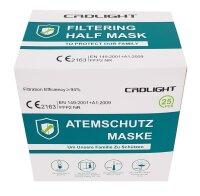 CRDLIGHT FFP2 Mundschutz Atemschutzmaske CE 2163