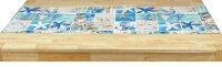 """Tisch-Mitteldecke 85 x 85 cm/-Läufer 40 x 90/140/160 cm pflegeleichte Tischdecke """"Maritime Style"""" für Küche, Garten, Balkon und Co."""