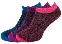 """3er Pack Damen Sneaker Socken """"Flexy"""" schnell trocknend"""
