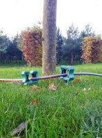 2er Set Gartenschlauchführung Schlauchführung Schlauchhalter Kabelhalter