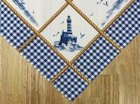 """Tisch-Mitteldecke """"Spiekeroog"""" 85 x 85 cm pflegeleichte Tischdecke für Küche, Garten, Balkon und Co."""