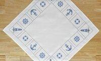 """Tisch-Mitteldecke """"Amrum"""" 85 x 85 cm pflegeleichte Tischdecke hochwertige Stickerei"""