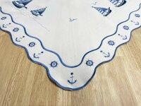 """Tisch-Mitteldecke """"Föhr"""" 85 x 85 cm pflegeleichte Tischdecke hochwertige Stickerei"""