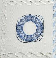 """Tisch-Mitteldecke """"Langeoog"""" 85 x 85 cm pflegeleichte Tischdecke hochwertige Stickerei"""