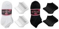 """10er Pack Damen Sneaker Socken """"Black &..."""