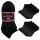 """10er Pack Damen Sneaker Socken """"Black & White"""" Sportsocken atmungsaktives Mesh Gewebe"""