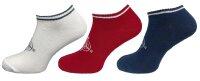 """3er Pack Damen Sneaker Socken """"Anker"""" hoher Baumwollanteil"""