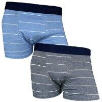 "2er Pack Herren Boxershorts ""Stripe"" Baumwolle..."