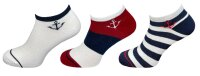 "3er Pack Herren Sneaker Socken ""Maritim"" hoher Baumwollanteil"