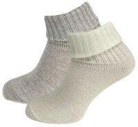 "2er Pack Damen Alpaka Socken ""Amaya"" Natur Socken"