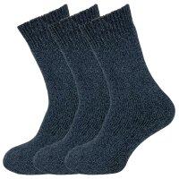 """3er Pack Herren Thermo Norweger Socken """"Scott"""" 30% Wollanteil und Plüschsohle"""