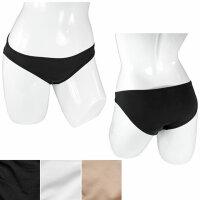 Damen Slips 3er Pack schwarz/weiß/hautfarbe
