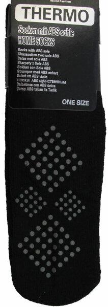 3er PackThermo-Stopper-Socken mit ABS Sohle schwarz